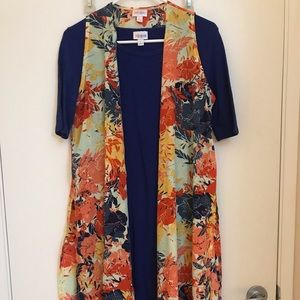 Blue form fitting dress with gorgeous cardigan